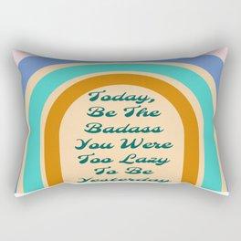 Retro Rainbow Badass Rectangular Pillow