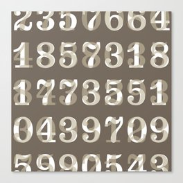 Clarendon Numbers Canvas Print