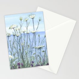 Queen Anne's lace, Watercolour Stationery Cards