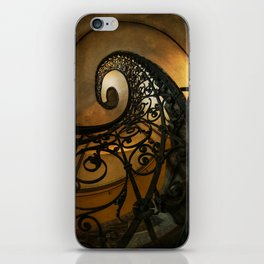 Spiral staircase with ornamented handrail iPhone Skin