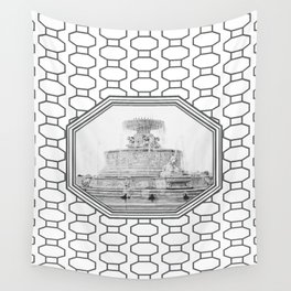 Scott Fountain_Belle Isle_Detroit, Michigan Wall Tapestry