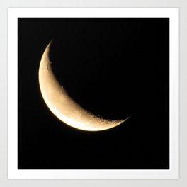 Quarter Moon Art Print