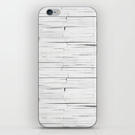 White Wooden Planks Wall iPhone Skin