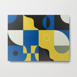 Abstract Geometric Composition 028 Metal Print