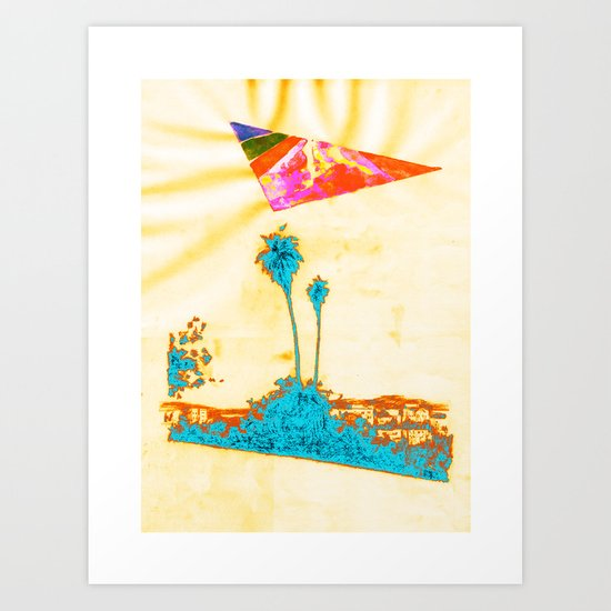 Summer in LA - Collaboration 1 Art Print