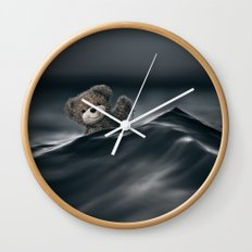 Riding The Waves Wall Clock
