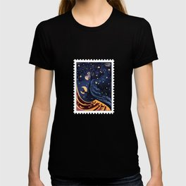 Postage Stamp Red-tailed black cockatoo T-shirt