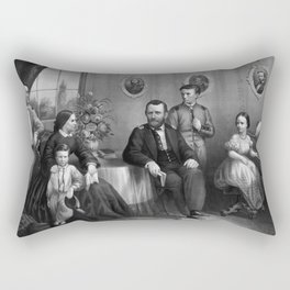 General Grant And His Family Rectangular Pillow