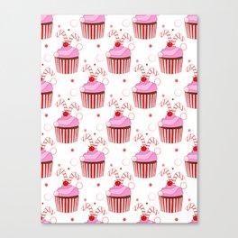 Christmas Cupcakes Canvas Print