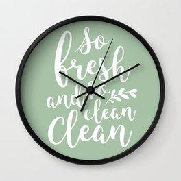 so fresh so clean clean  / mint Wall Clock