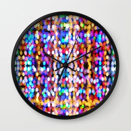 Bokeh Pattern Wall Clock