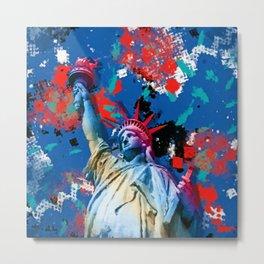 Statue of Liberty Abstract Art Metal Print