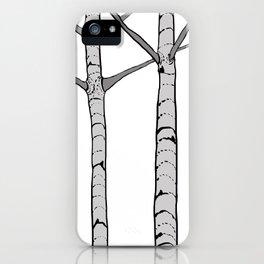 Poplar Tree Illustrated Print iPhone Case