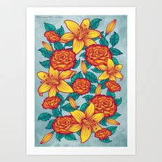 Flowers - Red Art Print