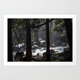 A River Runs Through Yosemite Art Print