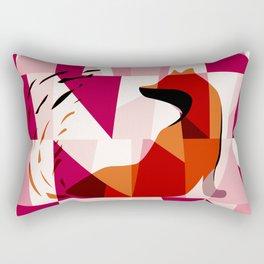 Fox Geometric Pattern Rectangular Pillow