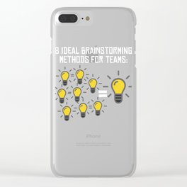 Problem Solving or Brainstorming Tshirt Design Brainstorming method for team Clear iPhone Case