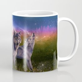 wolf and sky Coffee Mug