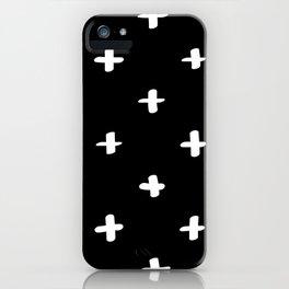 Freehand Crosses Black iPhone Case