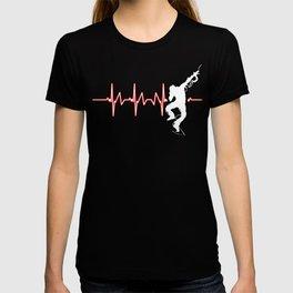 Break Dancing Heartbeat Dancing Dancers Jazz Hip-hop Ballet Music Gift T-shirt