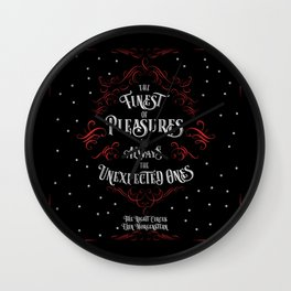 The finest of pleasures are always the unexpected ones. The Night Circus Wall Clock