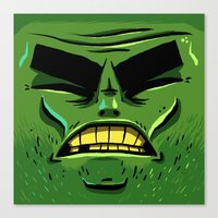 zombie Canvas Prints featuring Zombie by Terry Mack