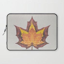 Burnt Orange and Rust Red Autumn Maple Leaf Trio Laptop Sleeve