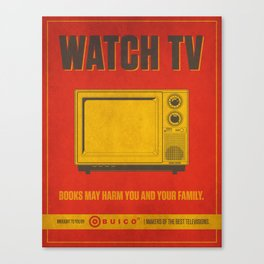 Watch TV.  Canvas Print
