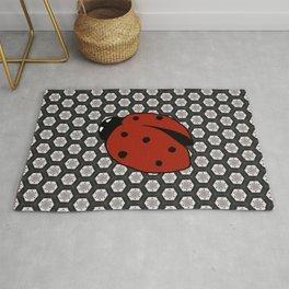 Ladybug with Background Rug