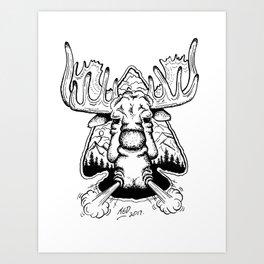 Moose & Arrow Art Print