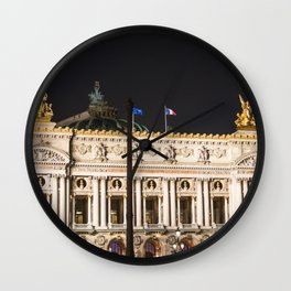 Paris, Opéra Garnier night Wall Clock