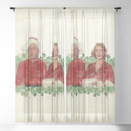 Bob & Betty (White Christmas) Sheer Curtain