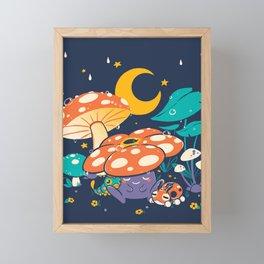 Goodnight Plume Framed Mini Art Print