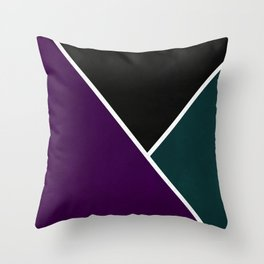 Noir Series - Purple & Green Throw Pillow