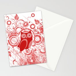 Red Owl Stationery Cards