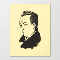 camus Canvas Prints featuring Camus 1 by reymonstruo