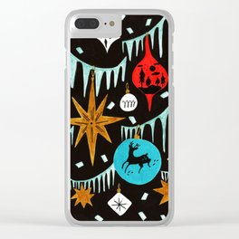 Mid Century Modern Christmas Tree Clear iPhone Case
