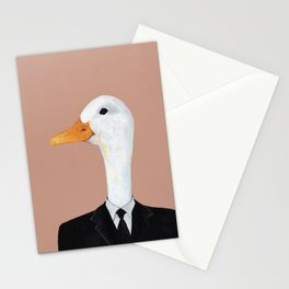 Duck In Suit Stationery Cards