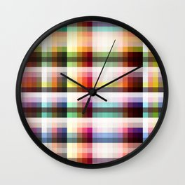 Mora - Colorful Decorative Abstract Striped Art Pattern Wall Clock