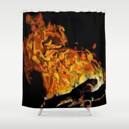 Autumn Firelight Shower Curtain
