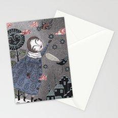 Snow Stars White, Snow Stars Bright Stationery Cards