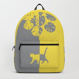 To the Light-Cat-Monstera-Pantone 2021 Backpack