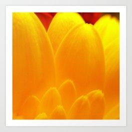 Flower Power Yellow Art Print