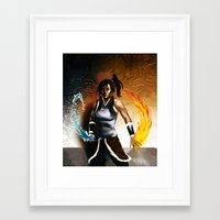 the legend of korra Framed Art Prints featuring Korra by Antoine Dennison