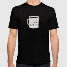 Mugged. Mens Fitted Tee Black LARGE
