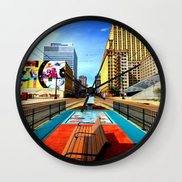 Memphis: Madison Ave Wall Clock