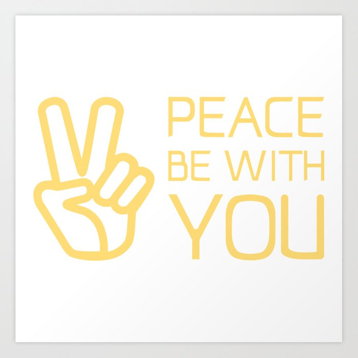 Christianbible Quotepeace Be With You Art Print By Emmanuellove