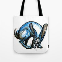 hare Tote Bags featuring Hare by Meredith Nolan