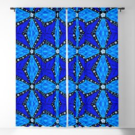 Onyx Beams of Flowers and Gems Blackout Curtain