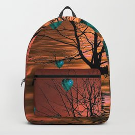 Magical Turquoise Heart Tree Backpack
